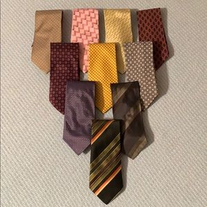 AWESOME LOT OF 10 ARMANI TIES MADE IN ITALY